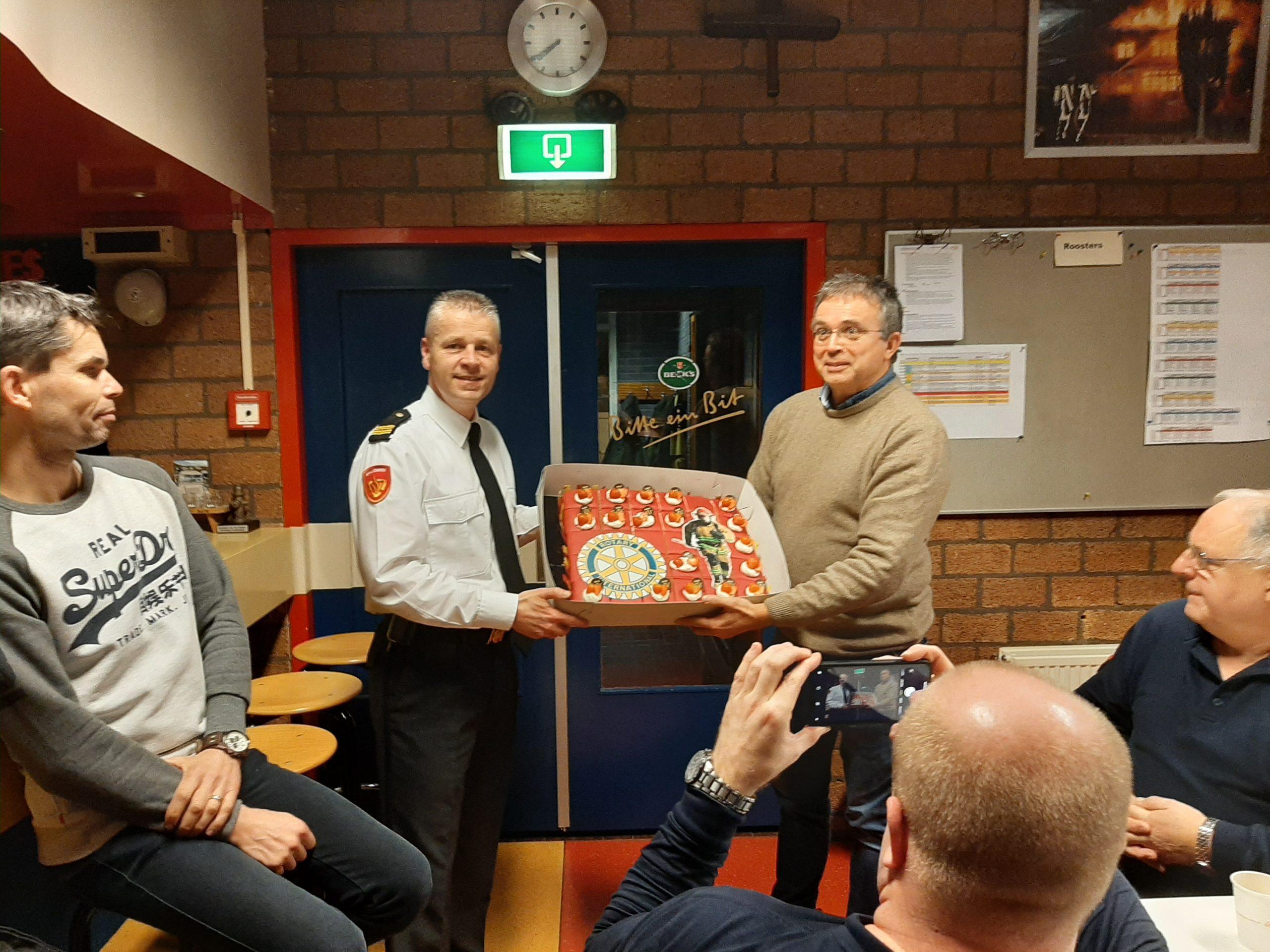 Rotary bezoekt oefenavond Soesterberg
