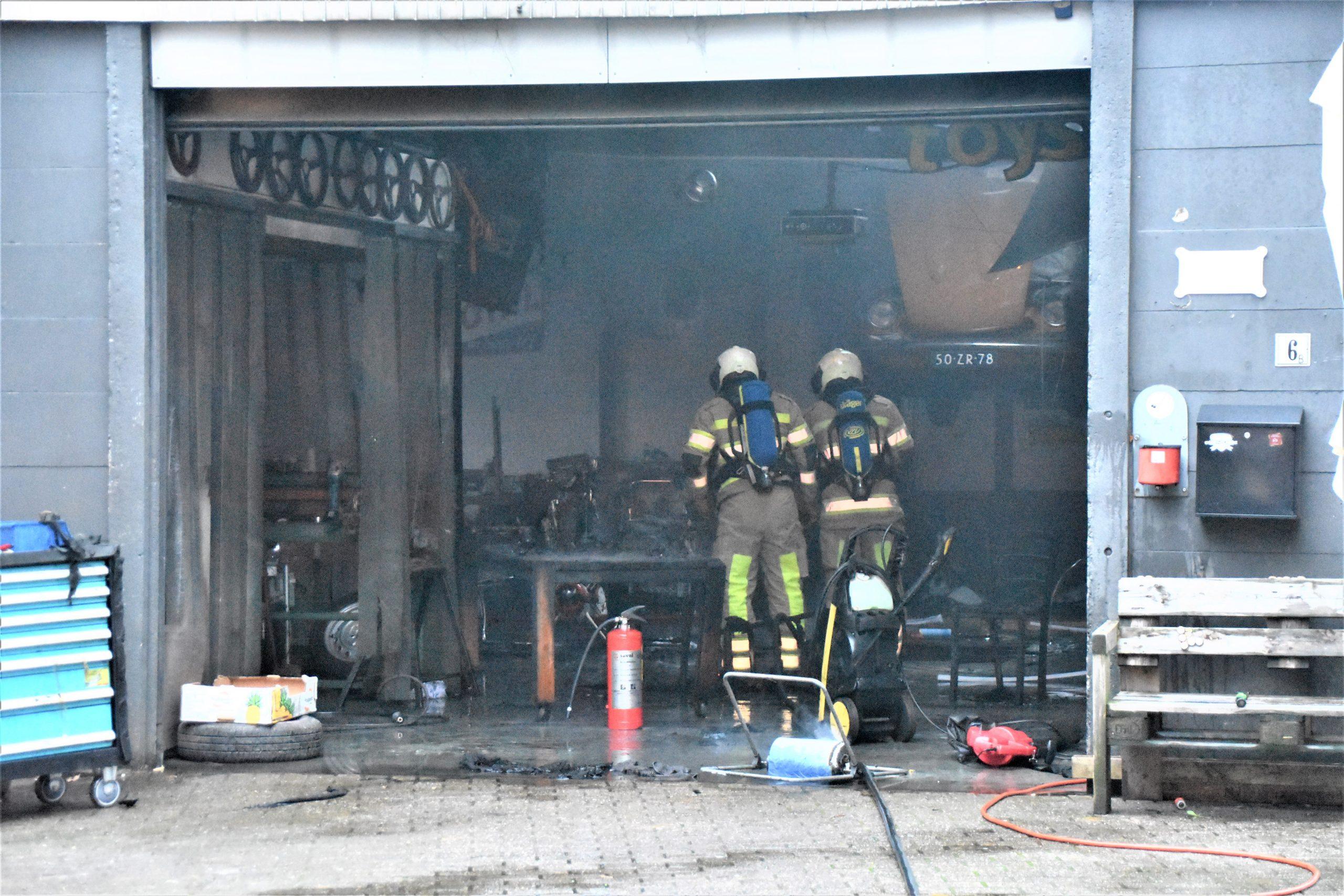 Bluspoging door eigenaar voorkomt uitbreiding brand