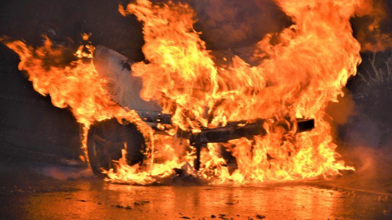 Autobrand sluit reeks uitrukken af