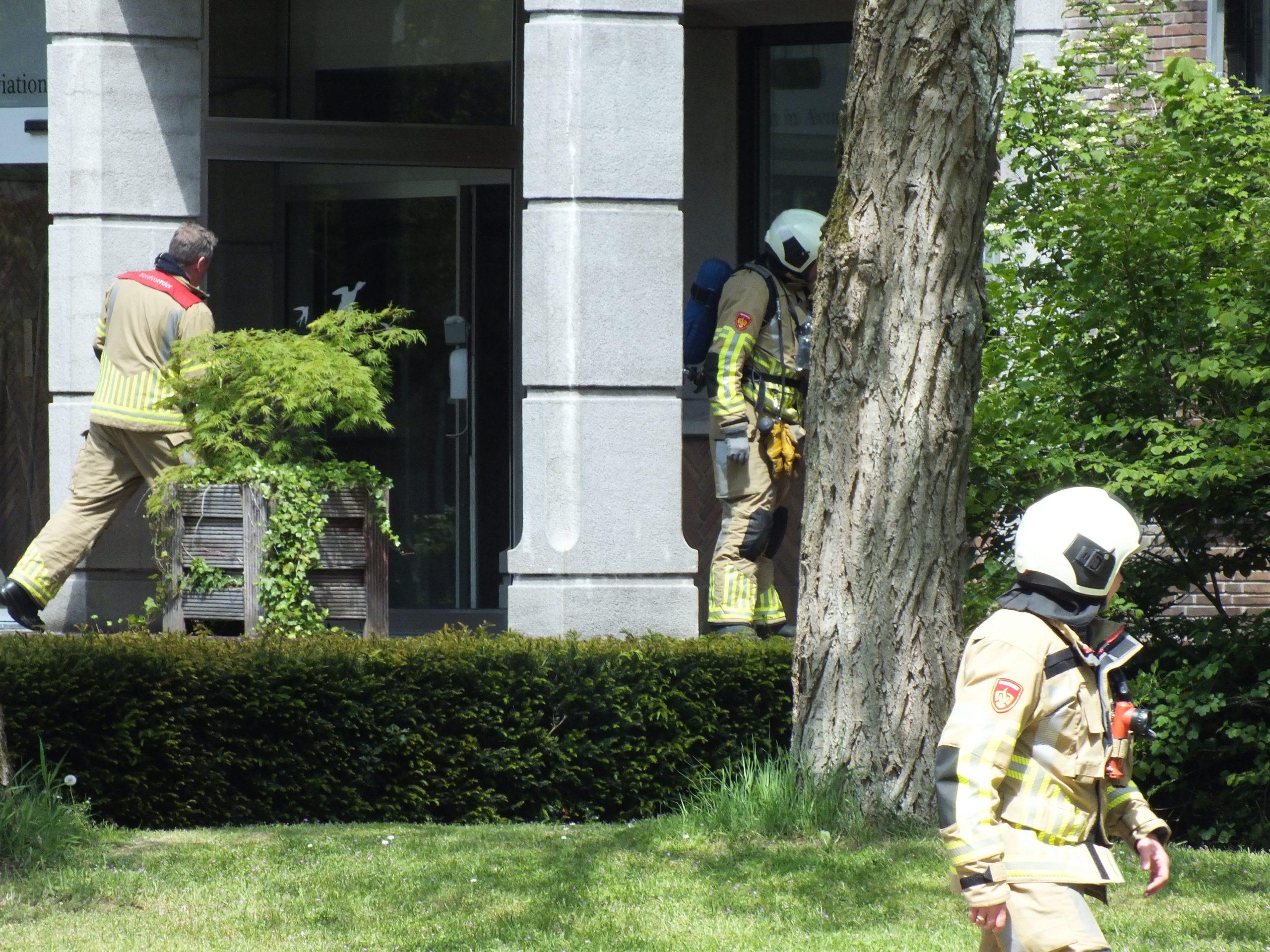 Brandweer rukt uit voor oefening en defecte melder