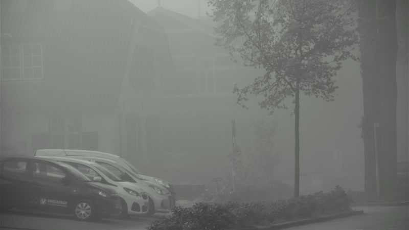 Zandstorm hindert verkeer