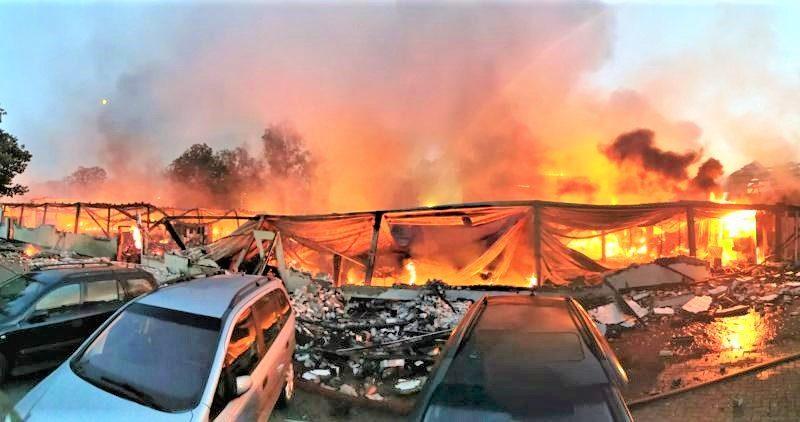 Miljoenenschade bij brand Wooncentrum Soesterberg