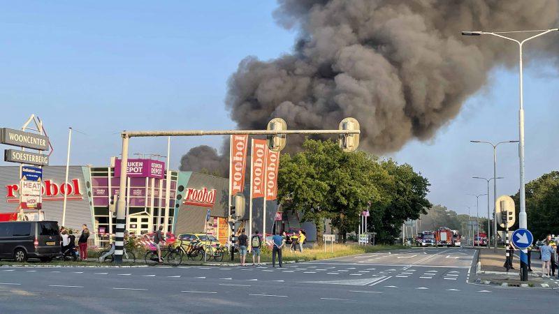 UPDATE: directe confrontatie met uitslaande brand