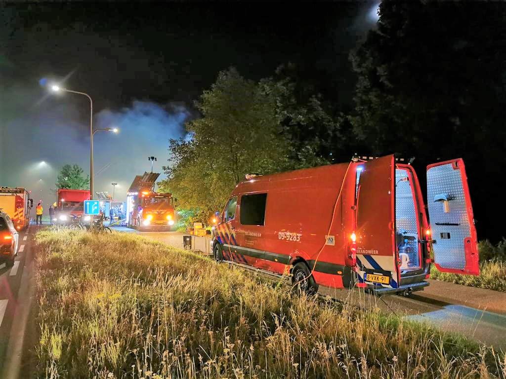 Logistieke bijstand brandweer Soesterberg in Bilthoven