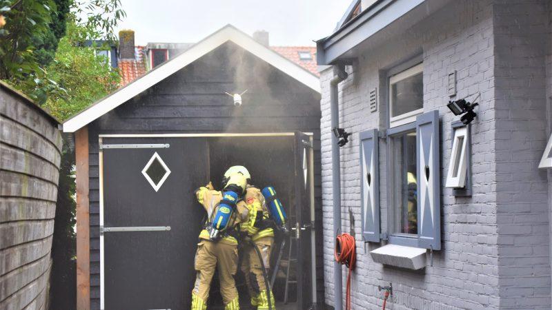 Brand in schuur door kortsluiting